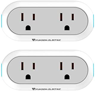 WiFi Smart Plug, Toyuugo Smart Dual Outlet Socket Compatible with Alexa Echo and Google Home IFTTT, Energy Monitoring Timing Wireless Outlets APP Remote Control from Anywhere, No Hub Required (2)