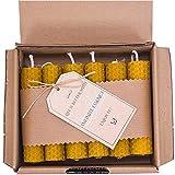 LAMARE Vela de Miel Natural 100 % pura de Abeja (Pack de 12, 10 cm longitud - 2...