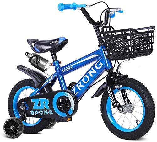 XXCZB Vélos Enfants Roller Intérieur Garçon Et Fille Petit Vélo en Plein Air Enfants Transport Vélo d'exercice (Couleur: Rouge Taille: 21 Pouces)-16 Pouces_Bleu