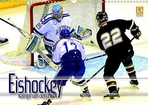 Eishockey - Kampf um den Puck (Wandkalender 2021 DIN A3 quer)