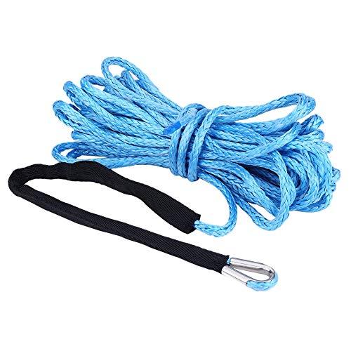 Esenlong Cable de Línea de Cuerda de Cabrestante Sintético 1/4 * 49 con Funda Protectora 6600 Lbs para Camión Atv Utv (Azul)