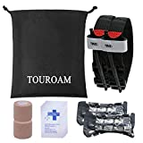 TOUROAM Trauma Medical First Aid Kit -Tactical Emergency Israeli Bandage-Survival Military Combat Tourniquet- Bandage Tool Pouch for Kayak Camping Water Sports Vehicle