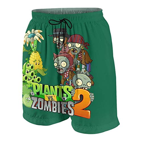 RTRTRT 2020 Creative Pla-NTS Vs Zom-bies Slim Fit Swim Trunks Beach Half Pants para Adolescentes Niños, Traje de baño de Secado rápido