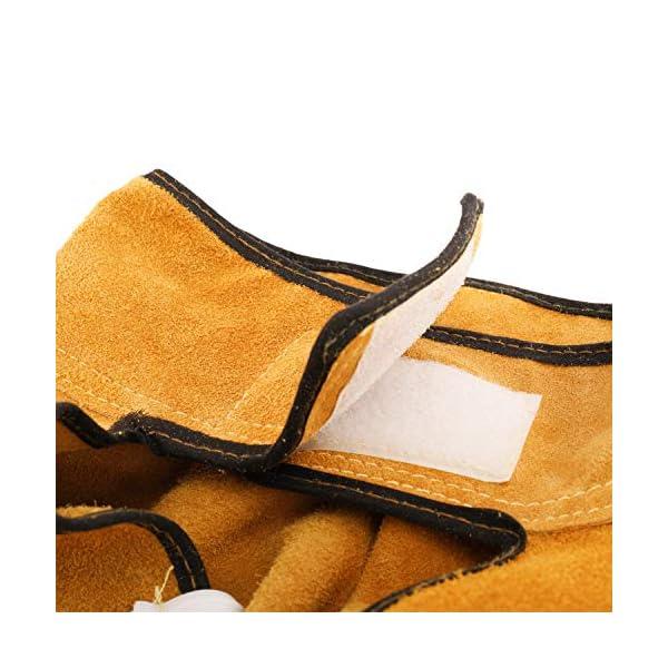 "41"" Long Cowhide Leather Welding Jacket 4"
