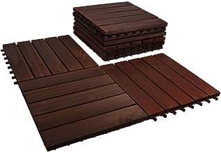 YATAI Wooden Floor Tiles, 30x30x2 cm, Wood Decking Tiles, Floor Tiles, Office Floor Tiles, Home Floor Tiles, Diy Tiles, Ga...