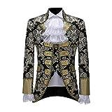 WOOGOD Oversized Herren Mittelalter Jacke +Hose +Weste,Mantel Gothic Steampunk Party Oberbekleidung Frack Jacke Gehrock Cosplay Kostüm für Karneval Halloween Uniform Kostüm
