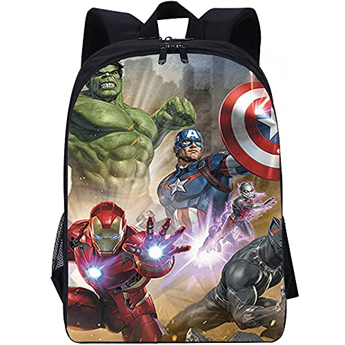 ZFWEI Laptop Rucksack Herren, Iron Man Hulk 16 Zoll Arbeit Business Rucksack Wasserdicht Rucksack Schule Tasche Damen Daypack mit Rucksack für Männer Frauen Schule Arbeit Reisen