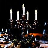 LED Weihnachtskerzen Kabellos Kerzen Weihnachtsbaumkerzen Christbaumkerzen mit Fernbedienung Timer Kerzenlichter - 6