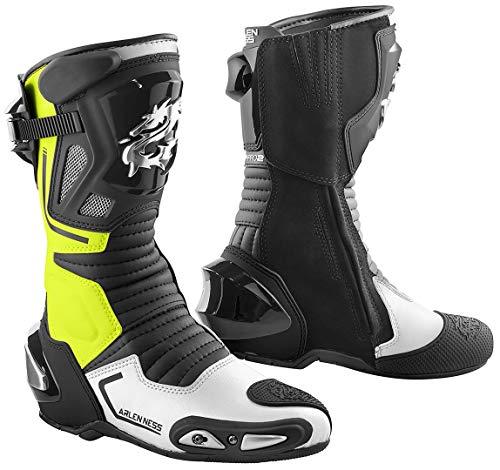 Arlen Ness Sugello Stivali da moto Nero/Giallo fluo 43