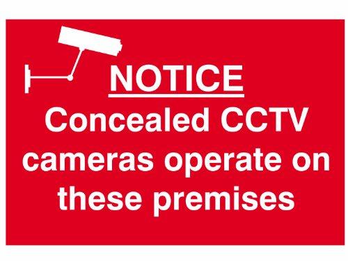 Scannen 1607 300 x 200mm PVC Kennisgeving Verborgen CCTV-camera's Werken op deze Gebaren