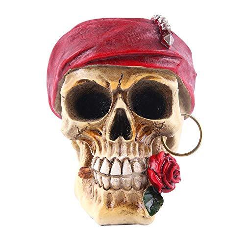 Rose personalidad humana cráneo decoración, simulado realista técnica de las resinas creativas de los cráneos Modelo Adornos for la barra casera Ciencia juguetes educativos, crear una atmósfera WTZ012