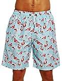 ZHYIF Trajes de baño para Hombres Grandes y Altos Vacaciones Baggy Swim Boardshorts Traje de baño Ropa Hawaiana Troncos de natación Tropicales Pantalones Cortos Coloridos con cordón