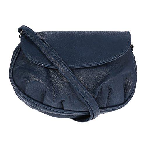 New Bags Schultertasche Abendtasche Umhängetasche Überschlagtasche S NB3041 Kunstleder 19cmx15cmx6cm (BxHxT) (Dunkelblau)