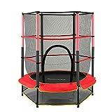 RDFlame - Cama elástica infantil con red de seguridad, 140 cm, cama elástica de jardín, para niños, capacidad dinámica de carga 50 kg