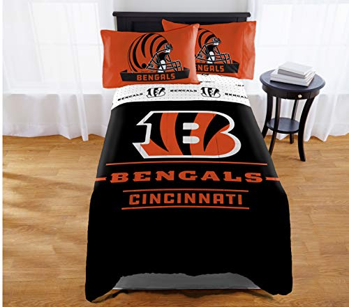 "Northwest NFL Cincinnati Bengals ""Monument"" Twin/Full Comforter #281548341"