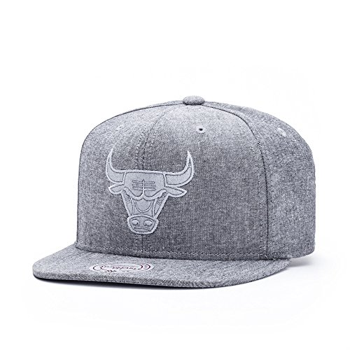 Mitchell & Ness Herren Caps / Snapback Cap NBA Italian Washed Chicago Bulls grau Verstellbar