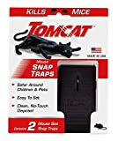 Tomcat Mouse Snap Traps - Mouse Killer - Safer Around Children and Pets Than Conventional Wooden Traps, 2 Pack