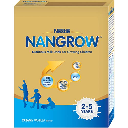 Nestle Nangrow Nutritious Milk Drink for Growing Childrenn (2-5 Years) - 400G Bag-in-Box Pack (Creamy Vanilla Flavour)