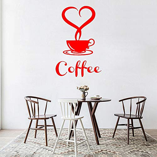 Abnehmbare Küche dekorative Kaffeetasse Applique Vinyl Aufkleber Hauptdekoration 红色 30cm X 50cm