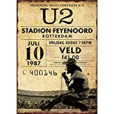 U2 Stadion Feyenoord Rotterdam Blechschilder Vintage Metall