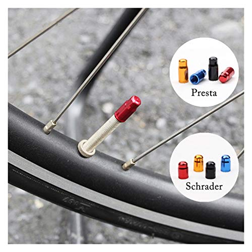 Tapa de neumático a prueba de polvo, 10 unids Gub Presta / Schrader Válvula de la bicicleta Tapa de aleación de aluminio Bicicleta Tapa de válvula de neumático Tapa de la cubierta de la rueda a prueba