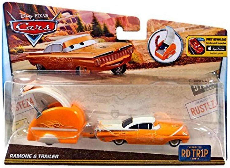 Disney Pixar Cars, Carburetor County Road Trip, Ramone Die-Cast Vehicle with Trailer by Disney by Disney