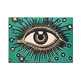 Dabbledown Cuadro de Lienzo Todo el Ojo Que ve Arte Cartel Estrellas Ojo Providencia Celestial decoración mística esotérica gnóstico 60X90CM