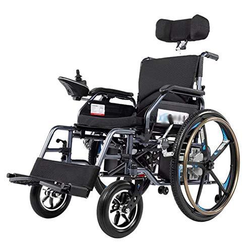 Elektrische rolstoel, licht en opvouwbaar frame, rolstoel, voor auto, draagbaar transport, reizen, chairfor, toegang voor oudere mensen met een handicap, 24 A lithium batterij.