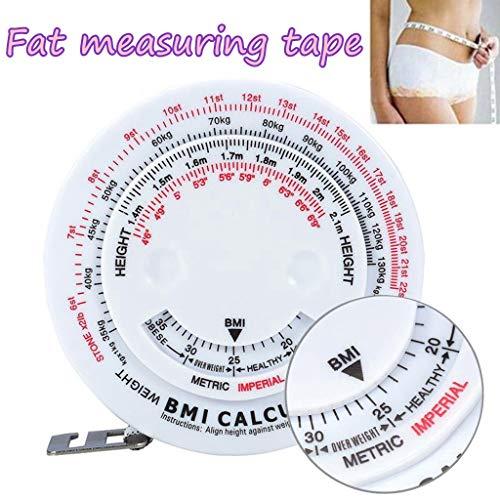 Hahuha Maßband, Body Mass Measuring Tape mit BMI-Rechner - Fitness-Gewichtsverlust-Muskelfett-Test, Kunsthandwerk & Nähen