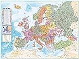 Close Up Póster XXL Mapa de Europa con Banderas y Leyenda (135cm x 100cm)