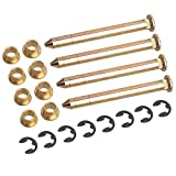 NDRUSH Door Hinge Pins Bushings Kit Replacement Compatible with Ford F150 F250 F350 Bronco