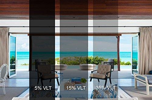 Sugo Premium Privacy Reflection Window Tint Film Energy Saver (3X12 FEET, 15% VLT)