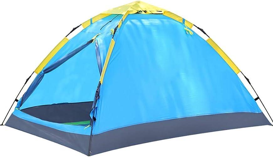 Pliable Camping Tentes Sac de Transport,Imperméabiliser portable Tentes Pop Up Abri du Soleil pour Les Sports de Plein Air Randonnée Voyage Plage Familiale Exterieur Bleu