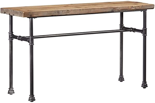 Progressive Furniture Console Table In Distressed Natural Finish
