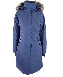 Women's Flurry Run Down Long Omni Heat Jacket Coat Hooded Parka