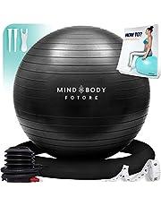 Gymnastiekbal Mind Body Future. Swiss Ball perfect als zitbal en therapiebal. voor yoga, pilates, zwangerschap. Robuust, antislip, hypoallergeen. 55, 65 of 75 cm met ring en pomp.