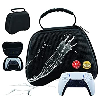 LUCKFY PS5 Controller Case Carrying Case for PS4/PS5 Google Stadia Heavy Duty Protective Cover Dustproof and Waterproof Hard-Shell Suitcase Convenient for Storing Charger Cable