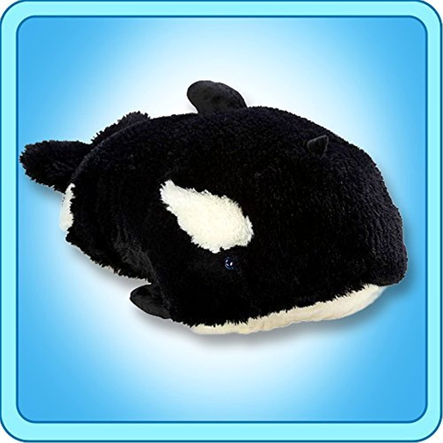 My Pillow Pets Splashy Whale - Large (Black And White) by Pillow Pets
