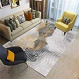 HXJHWB Tradicional Alfombra de salón - Elegante Sala de Estudio Simple y Elegante Alfombra de diseño geométrico de Estilo nórdico cómoda y suave-100 cm x 160 cm