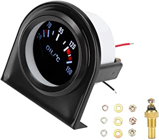 Auto Öltemperaturanzeige, 2 Zoll 52mm LED Licht Auto Zeiger Öltemperaturanzeige 50 150 ℃