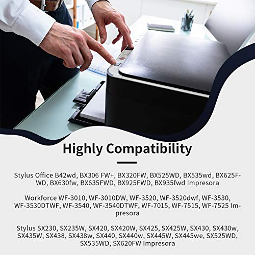 IKONG Cartuchos de Tinta Compatibile para Cartuchos Epson T1292 T1293 T1294 Multipack para Epson Stylus SX235W SX445W SX425W SX430W SX435W SX535WD BX305FW Plus WF-7515 (3 Cian,3 Magenta,3 Amarillo)