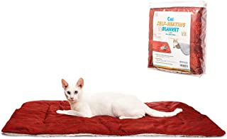 PAWCHIE Cat Self-Heating Pad Self-Warming Pet Bed Mat Blanket with Snowflake Print Suede Winter Warm Blanket for Puppies and Cats