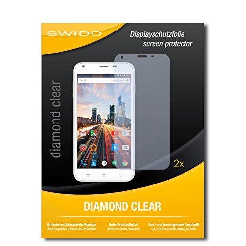 2 x SWIDO® Bildschirmschutzfolie Archos 55 Helium+ Schutzfolie Folie