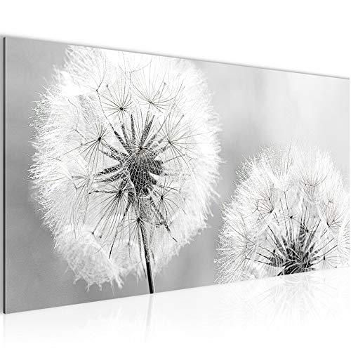Runa Art Wandbilder Pusteblume Vlies - Leinwand Bild XXL Format Wandbilder Wohnzimmer Wohnung Deko Kunstdrucke Grau 1 Teilig - Made IN Germany - Fertig zum Aufhängen 207112c