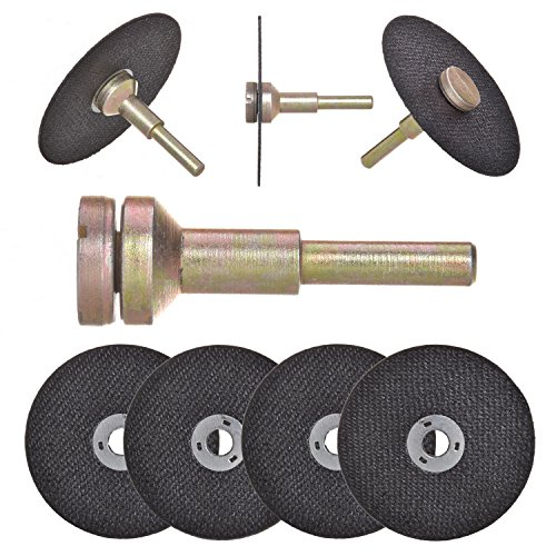 Drixet Cut Off Wheel Die Grinder Set - Round Hole Cut Off Wheel Metal Cutting Disc for Grinder Zinc Plated Flap Disc Cutting Wheels for Grinders with 8 Flat Cut Off Wheels Grinder Discs