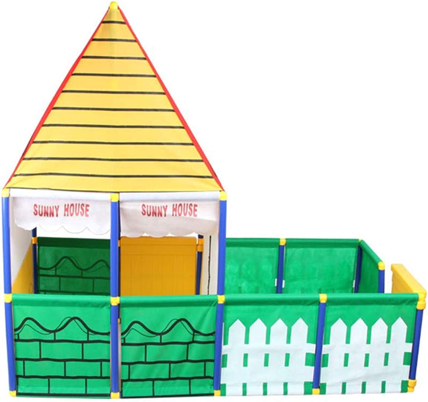 JHHXW Indoor Toy Room, Kinderspiel Castle Outdoor Groe Gartenkombinationszelt 155  80  145 cm Kinderspielhaus