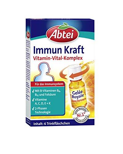 Abtei Immun Kraft, 6 Trinkfläschchen, Vitamin Vital Komplex, Immunsystem