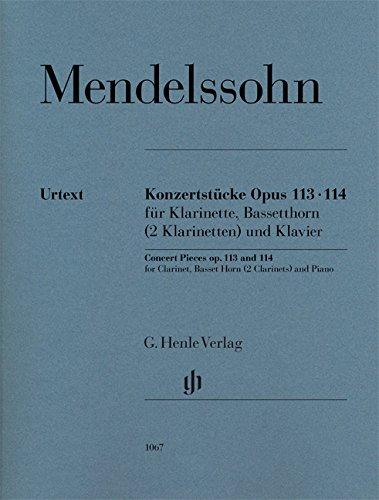 Konzertstücke op. 113 und 114 für Klarinette, Basetthorn (2 Klarinetten) und Klavier