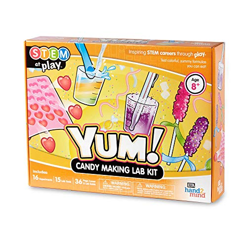 hand2mind YUM! Candy Making Science Kit For Kids (Ages 8+) - Build 16 STEM Chemistry Experiments and Activity Set | Make Yummy Candy, Gummy Worms & More | Educational Toy | STEM Authenticated