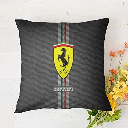Ferrari - Funda de cojín para decoración del hogar, dormitorio, sala de estar, 45,7 x 45,7 cm